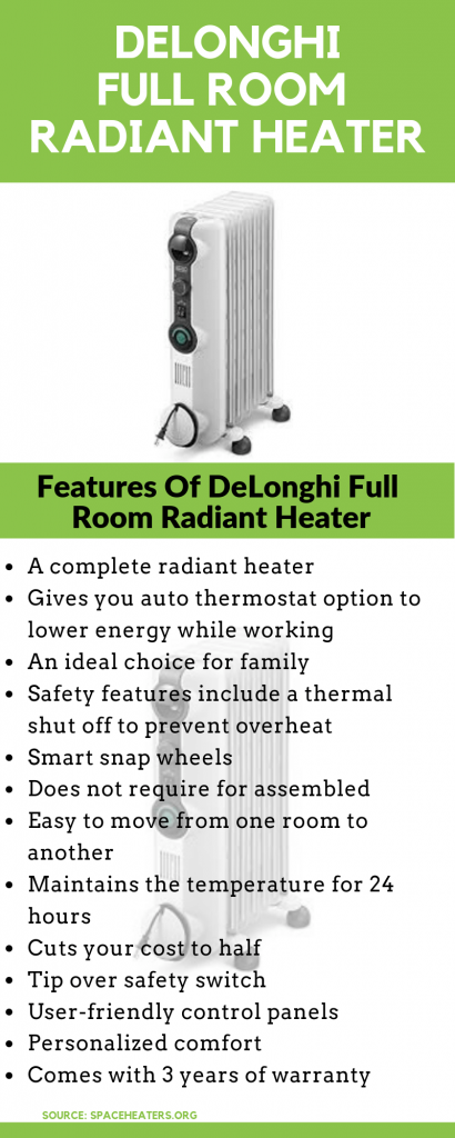 DELONGHI Heater Infographic