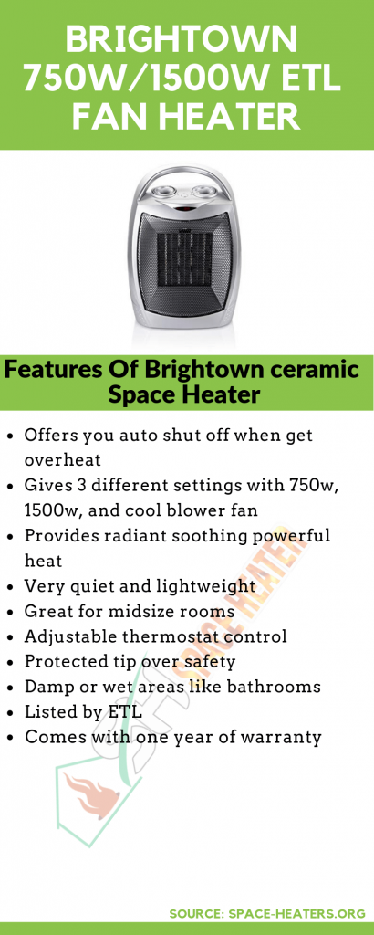Brightown Heater Infographic